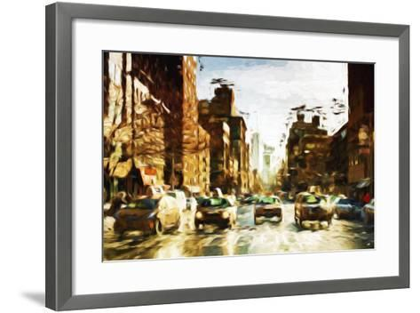 Four Taxis II - In the Style of Oil Painting-Philippe Hugonnard-Framed Art Print