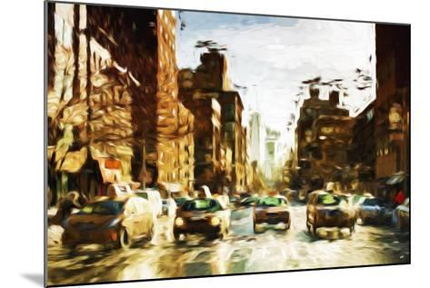 Four Taxis II - In the Style of Oil Painting-Philippe Hugonnard-Mounted Giclee Print