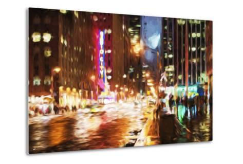 Manhattan Night II - In the Style of Oil Painting-Philippe Hugonnard-Metal Print