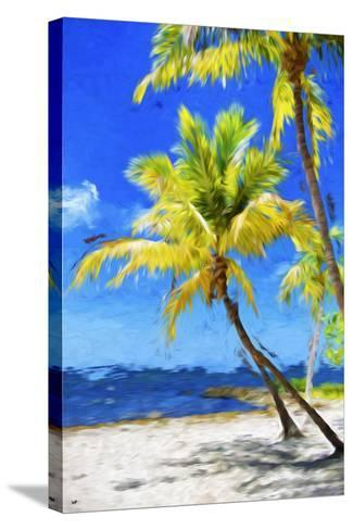 Quiet Beach - In the Style of Oil Painting-Philippe Hugonnard-Stretched Canvas Print