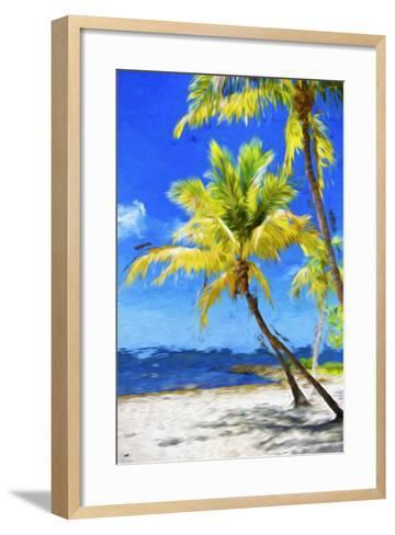 Quiet Beach - In the Style of Oil Painting-Philippe Hugonnard-Framed Art Print