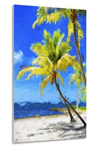 Quiet Beach - In the Style of Oil Painting-Philippe Hugonnard-Metal Print