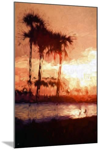 Three Palms - In the Style of Oil Painting-Philippe Hugonnard-Mounted Giclee Print