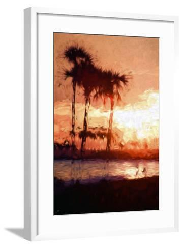 Three Palms - In the Style of Oil Painting-Philippe Hugonnard-Framed Art Print