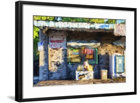 Open Bar - In the Style of Oil Painting-Philippe Hugonnard-Framed Art Print