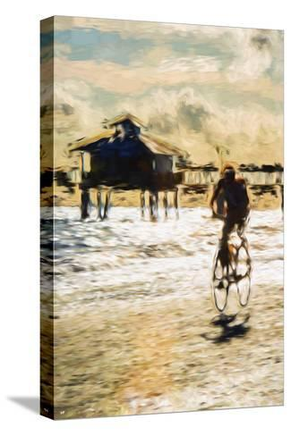 Cyclist - In the Style of Oil Painting-Philippe Hugonnard-Stretched Canvas Print