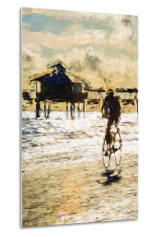 Cyclist - In the Style of Oil Painting-Philippe Hugonnard-Metal Print
