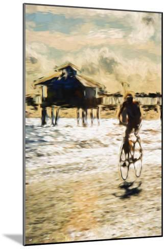 Cyclist - In the Style of Oil Painting-Philippe Hugonnard-Mounted Giclee Print