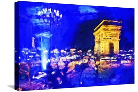 Paris Blue Atmosphere - In the Style of Oil Painting-Philippe Hugonnard-Stretched Canvas Print