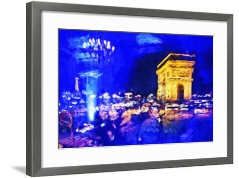Paris Blue Atmosphere - In the Style of Oil Painting-Philippe Hugonnard-Framed Art Print