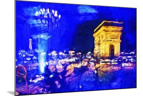 Paris Blue Atmosphere - In the Style of Oil Painting-Philippe Hugonnard-Mounted Giclee Print