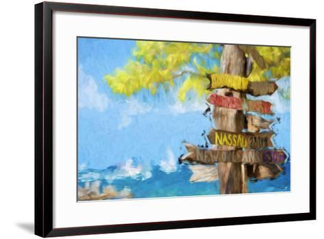 Destinations III - In the Style of Oil Painting-Philippe Hugonnard-Framed Art Print