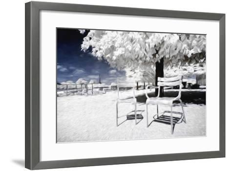 Two Parisian Chairs - In the Style of Oil Painting-Philippe Hugonnard-Framed Art Print