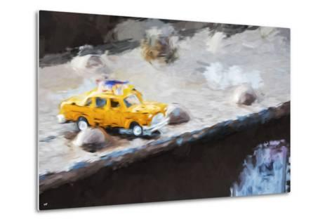 Taxi Bridge - In the Style of Oil Painting-Philippe Hugonnard-Metal Print