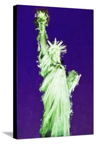 Statue of Liberty VIII - In the Style of Oil Painting-Philippe Hugonnard-Stretched Canvas Print