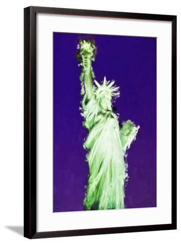 Statue of Liberty VIII - In the Style of Oil Painting-Philippe Hugonnard-Framed Art Print