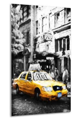 Manhattan Taxi IV - In the Style of Oil Painting-Philippe Hugonnard-Metal Print