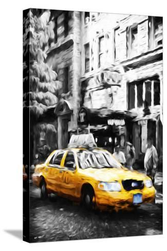 Manhattan Taxi IV - In the Style of Oil Painting-Philippe Hugonnard-Stretched Canvas Print