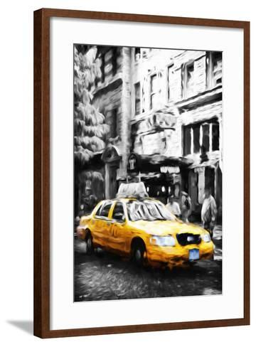 Manhattan Taxi IV - In the Style of Oil Painting-Philippe Hugonnard-Framed Art Print