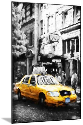 Manhattan Taxi IV - In the Style of Oil Painting-Philippe Hugonnard-Mounted Giclee Print
