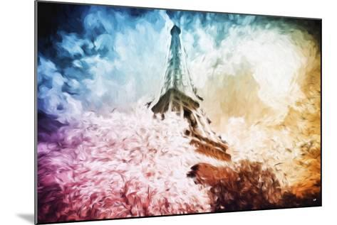 Eiffel Tower Colros - In the Style of Oil Painting-Philippe Hugonnard-Mounted Giclee Print