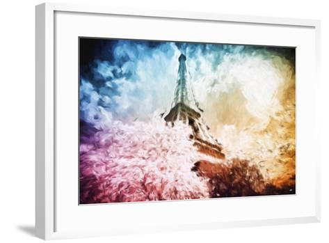 Eiffel Tower Colros - In the Style of Oil Painting-Philippe Hugonnard-Framed Art Print