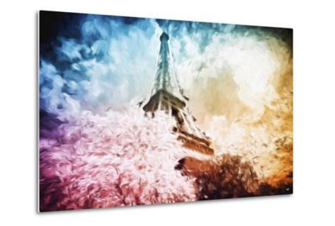 Eiffel Tower Colros - In the Style of Oil Painting-Philippe Hugonnard-Metal Print
