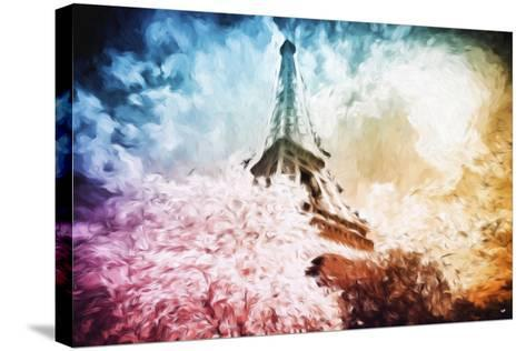 Eiffel Tower Colros - In the Style of Oil Painting-Philippe Hugonnard-Stretched Canvas Print