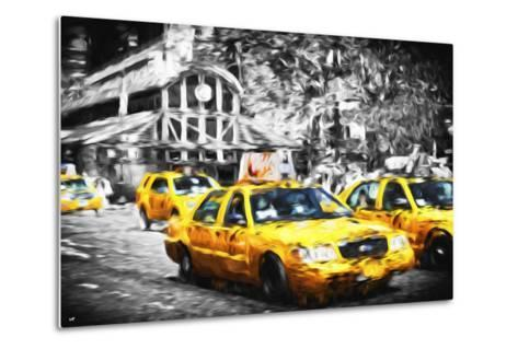 72 Taxis Station II - In the Style of Oil Painting-Philippe Hugonnard-Metal Print