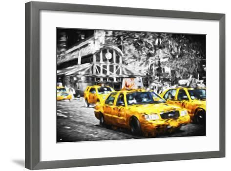 72 Taxis Station II - In the Style of Oil Painting-Philippe Hugonnard-Framed Art Print
