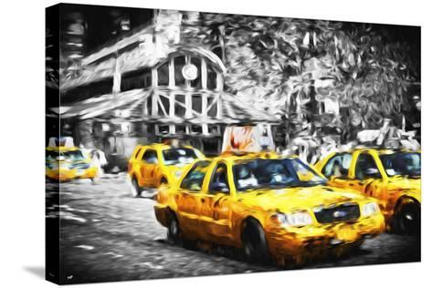 72 Taxis Station II - In the Style of Oil Painting-Philippe Hugonnard-Stretched Canvas Print