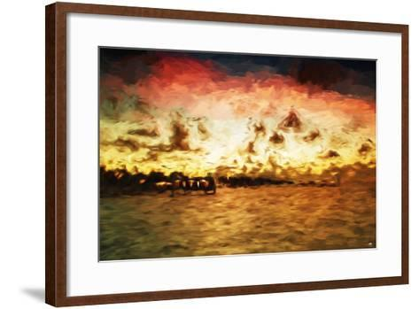 Key West Pier II - In the Style of Oil Painting-Philippe Hugonnard-Framed Art Print