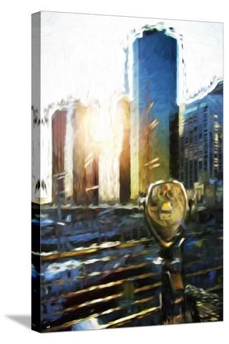 NYC Sunset View - In the Style of Oil Painting-Philippe Hugonnard-Stretched Canvas Print