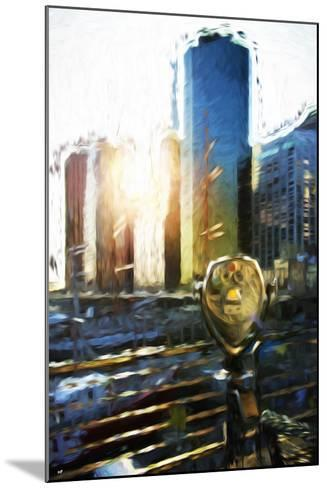 NYC Sunset View - In the Style of Oil Painting-Philippe Hugonnard-Mounted Giclee Print