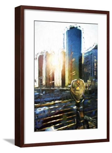 NYC Sunset View - In the Style of Oil Painting-Philippe Hugonnard-Framed Art Print