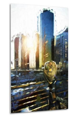 NYC Sunset View - In the Style of Oil Painting-Philippe Hugonnard-Metal Print