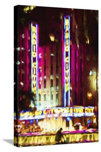 Radio City Music Hall IV - In the Style of Oil Painting-Philippe Hugonnard-Stretched Canvas Print