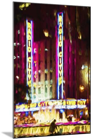 Radio City Music Hall IV - In the Style of Oil Painting-Philippe Hugonnard-Mounted Giclee Print