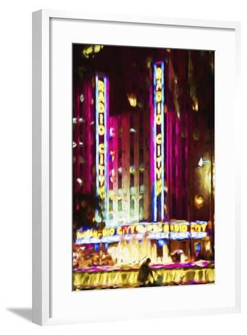 Radio City Music Hall IV - In the Style of Oil Painting-Philippe Hugonnard-Framed Art Print