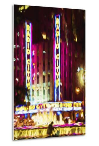 Radio City Music Hall IV - In the Style of Oil Painting-Philippe Hugonnard-Metal Print