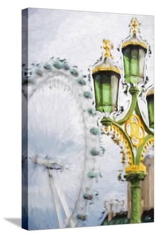 Royal Lamppost - In the Style of Oil Painting-Philippe Hugonnard-Stretched Canvas Print