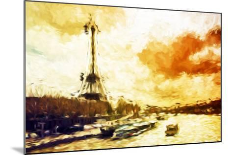 Paris Sunset - In the Style of Oil Painting-Philippe Hugonnard-Mounted Giclee Print