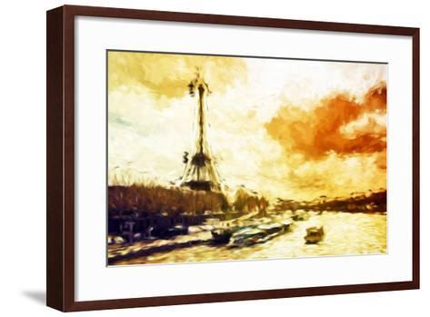 Paris Sunset - In the Style of Oil Painting-Philippe Hugonnard-Framed Art Print