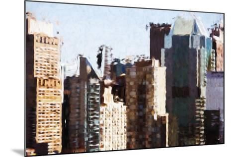 Skyscrapers Collection III - In the Style of Oil Painting-Philippe Hugonnard-Mounted Giclee Print