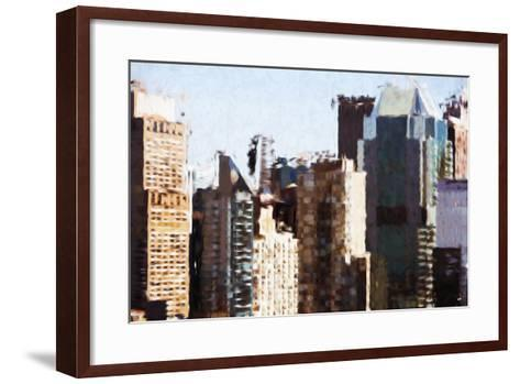 Skyscrapers Collection III - In the Style of Oil Painting-Philippe Hugonnard-Framed Art Print