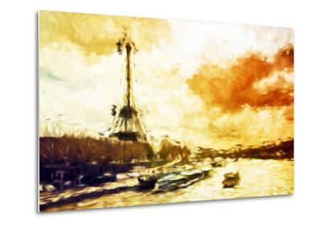 Paris Sunset - In the Style of Oil Painting-Philippe Hugonnard-Metal Print