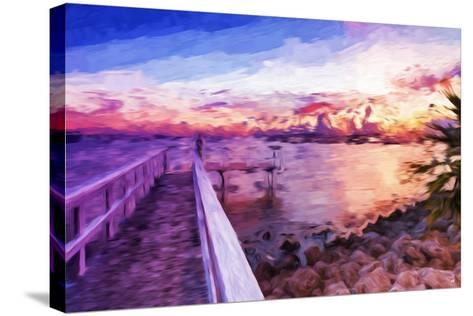 Romantic Pontoon III - In the Style of Oil Painting-Philippe Hugonnard-Stretched Canvas Print