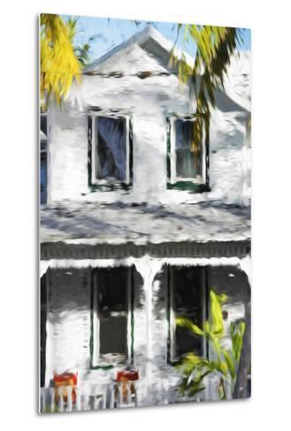 Colonial House V - In the Style of Oil Painting-Philippe Hugonnard-Metal Print