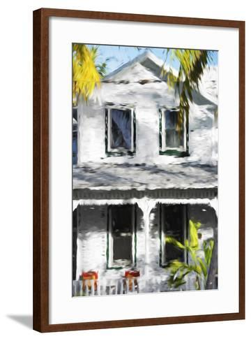 Colonial House V - In the Style of Oil Painting-Philippe Hugonnard-Framed Art Print