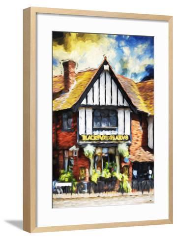 Black Inn - In the Style of Oil Painting-Philippe Hugonnard-Framed Art Print